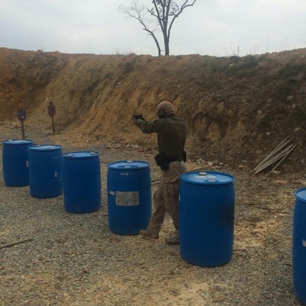 Deputy Brank shooting an exercise