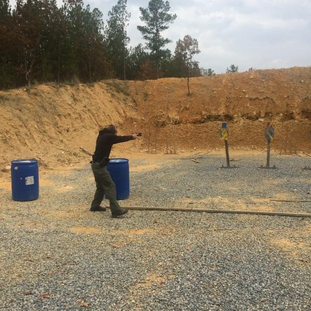 Deputy Pasdon shooting an exercise