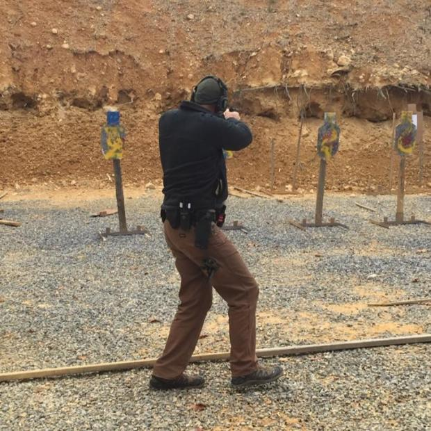 Deputy Thrower shooting an exercise