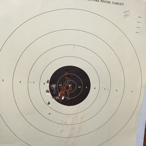 My target from the FBI Bullseye Course.